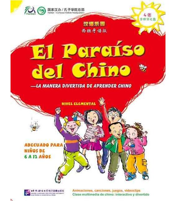 El Paraíso del chino 1- Nivel elemental (Libro + CD)- 4 CD-ROM Interactivos