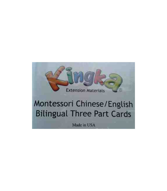 Kingka Montesory Bilingual (Chinese-English) Three Part Card Set (28 Pair of Nouns)