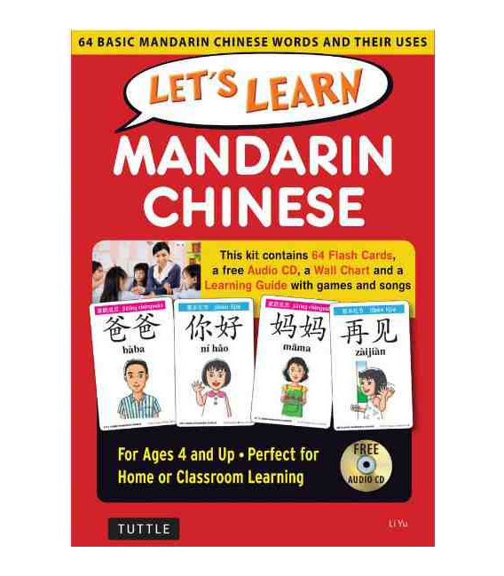 Let's Learn Mandarin Chinese Kit (64 Basic Mandarin Chinese Words and their Uses)-Ages 4 and up