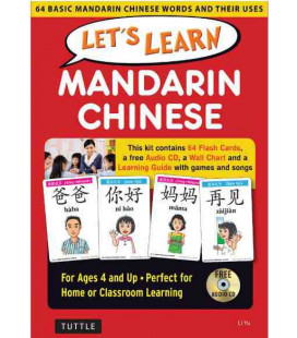 Let's Learn Mandarin Chinese Kit (64 Basic Mandarin Chinese Words and their Uses)