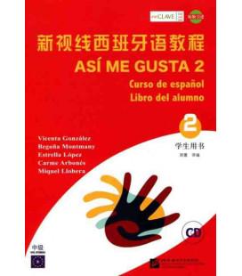 Así Me Gusta 2 (Curso de español - Libro del alumno)- CD included